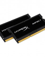 Памет Kingston HyperX Impact Black 16GB (2x8GB), DDR3, 1600MHz, CL9, 1.35V
